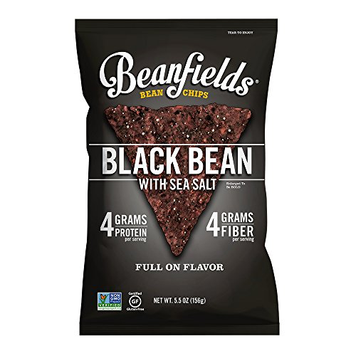(Beanfields Bean Chips, High Protein and Fiber, Gluten Free, Vegan Snack, Black Bean, 5.5 Ounce (Pack of 6))