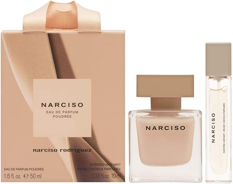 Narciso Rodriguez estuche Eau de Parfum POUDREE 50 ml + perfume para cabello 10 ml: Amazon.es: Belleza
