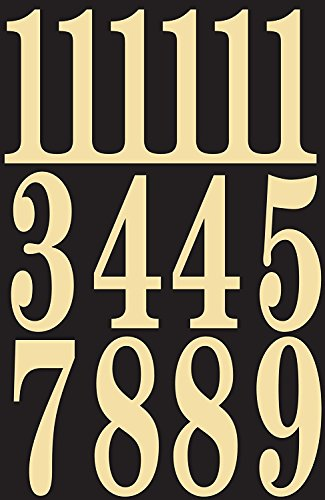 Hy-Ko MM-5N Self-Stick Numbers, 3″, Black/Gold