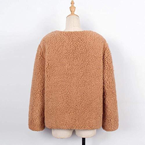 Outerwear Automne Mode Manches Femme Court Long Hiver Fourrure Art Manteau UwxFp4qx