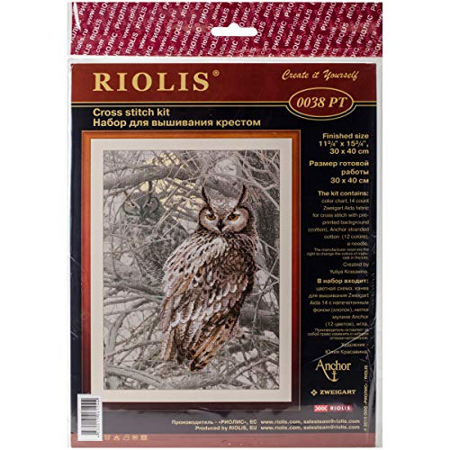 RIOLIS 0038 PT - Eagle Owl - Counted Cross Stitch Kit for sale  Delivered anywhere in USA