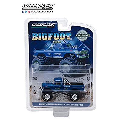 Greenlight 1974 Ford F-250 Monster Truck Bigfoot #1 Blue The Original Monster Truck (1979) Hobby Exclusive 1/64 Diecast Model Car: Toys & Games