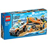 Lego 60012 City Coast Guard 4x4 Jeep Truck and Diving Boat & Minigfures New 5-12 Good Gift to Your Lovely Fast Shipping Ship Worldwide From Hengheng Shop