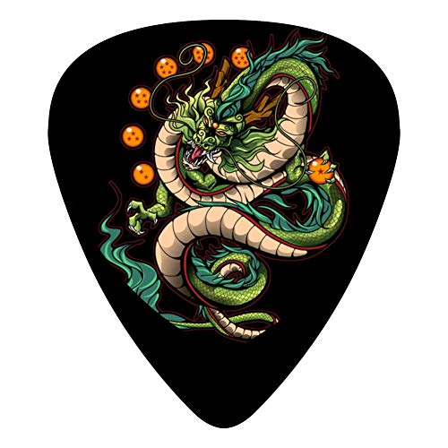 Shenron Guitar Picks Celluloid Medium Boys Complete Assorted 12 Pack For - Valentine Dragon Ball