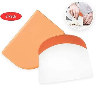 Bowl Scraper Dough Scrapers Bowl Scraper Flexible Silicone Plastic Bread Handle Cutter Chopper for Kitchen Aid Mixer Professional Set