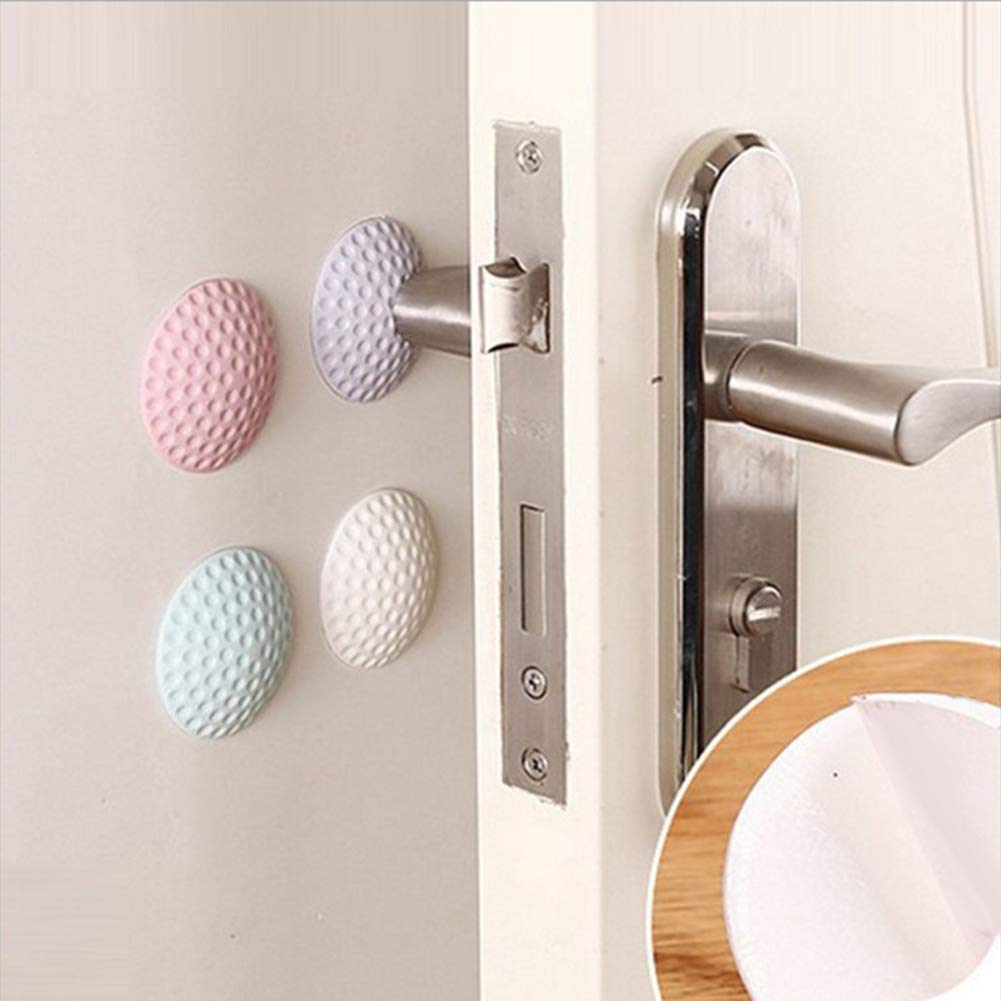 display08 4Pcs Baby Protection Safety Shock Absorber Door Stopper Mat Cushion White