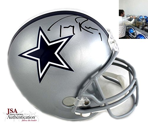 Tony Romo Autographed/Signed Dallas Cowboys Riddell Full Size NFL Helmet (Tony Romo Autographed Helmet)