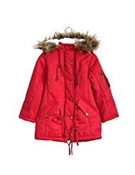 Ameny® Children Girls CHIC Hooded Winter Anoraks Wadded Outfit Jacket Coat