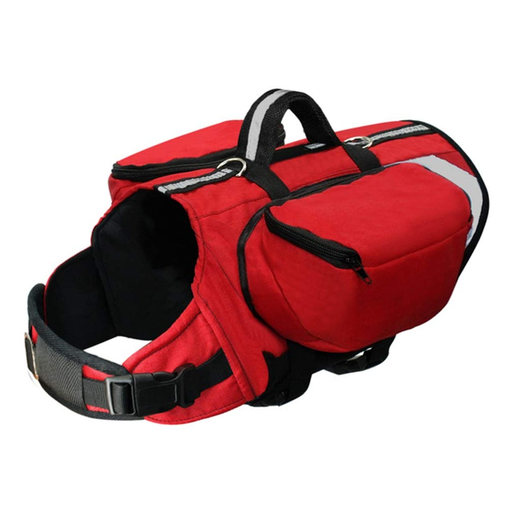 EBRICKON Outdoor Dog Backpack Harness Reflective Dogs Pack Hound Travel Camping Hiking Backpacks Saddle Bag for Medium Large Dogs