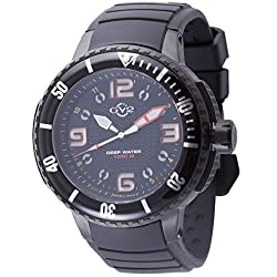 GV2 by Gevril Men's 8900 Termoclino Analog Display Quartz Black Watch