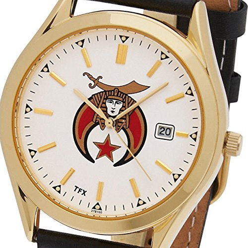 Men's Gold Plated TFX by Bulova Freemason Masonic Shriner Mason Watch