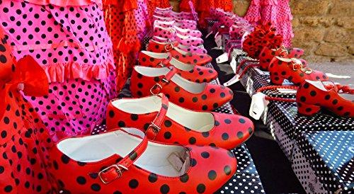La Rouge Flamenco Noir Senorita Chaussures xnwBx