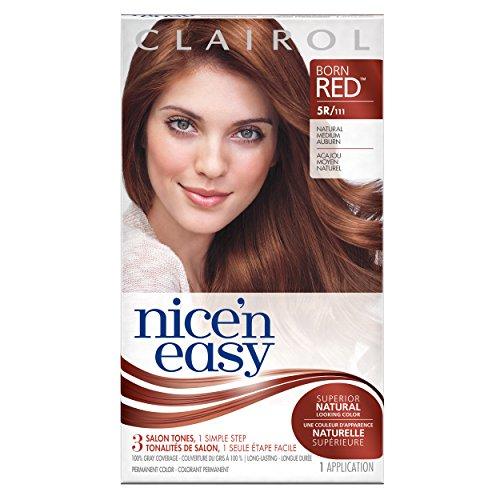 Nice 'N Easy Permanent Hair Color 5R Natural Medium Auburn 1 Kit Clairol Auburn Hair Color