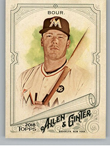 Baseball MLB 2018 Allen and Ginter #56 Justin Bour Marlins