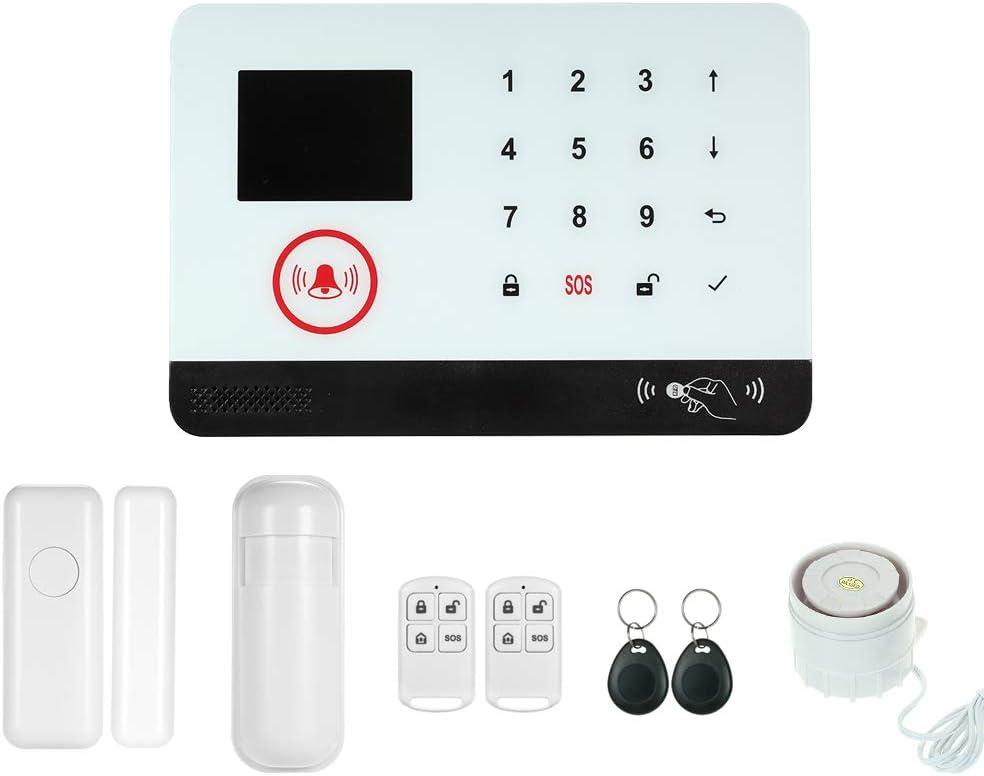 Marcaci/ón Autom/ática Soporta Control Remoto de App Tuya iOS Android 110dB Flash Strobe Compatible con  Alexa Echo y Google Assistant OWSOO 433MHz Sistema de Alarma WiFi gsm 2G