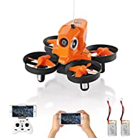 Furibee Mini Drone with Camera Live Video, H801 Wifi FPV RC Quadcopter Drone RTF with Altitude Hold, One Key Return for Kids, Beginners, Adults (2 Batteries Orange)