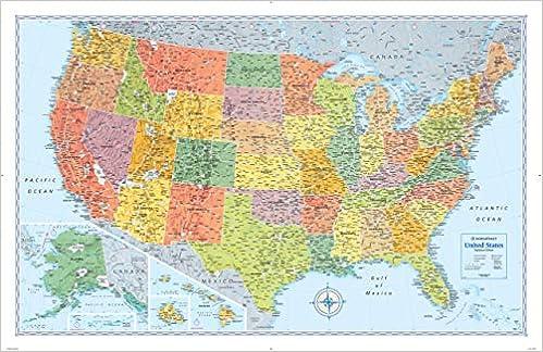 Rand Mcnally Signature United States Wall Map Rand Mcnally 9780528012747 Books Amazon Ca