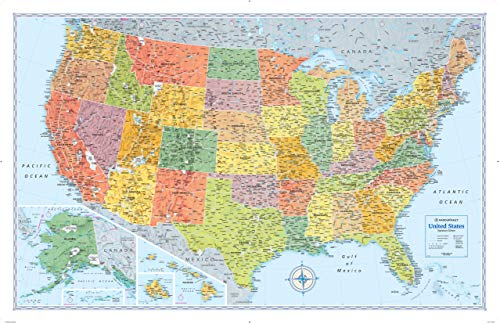 wall maps of united states - 4