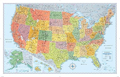 (Rand McNally Signature United States Wall Map - Laminated)