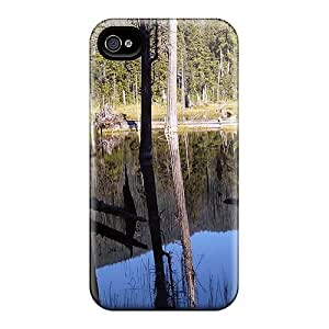 New Marthaeges Super Strong Beaver Pond Tpu Case Cover For Iphone 4/4s