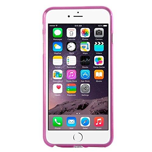 Phone Taschen & Schalen Frosted TPU Fall für iPhone 6 Plus & 6S Plus ( Color : Magenta )