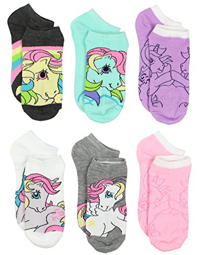 My Little Pony Girls 6 pack Socks (10-13 Womens (Shoe: 6-12), Grey/Multi Queen) for $<!--$9.88-->