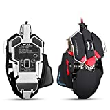 Combatwing 4800 DPI Gaming Mouse Aluminum Base, 10 Buttons, RGB LED Professional Programmable USB Wired Gaming Mice For laptop Or Desktop Computer