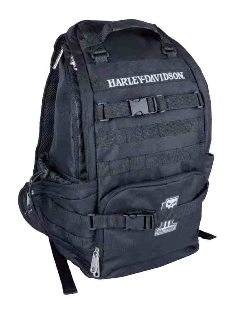 Harley-Davidson Night Ops Stellar Backpack, #1 Skull Patch Black 99214