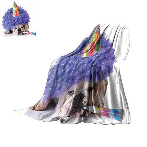 RamonDecorFH Kids Birthday,Warm Blanket Boxer Dog Animal with