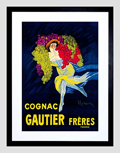 AD Drink Alcohol Gautier Cognac Brandy Grapes France Framed Art Print B12X6732