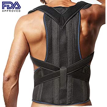 f7caed6cd Amazon.com  Frogwill Mens Posture Correction support pain Relief ...