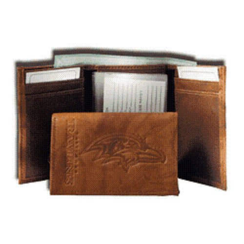 - NFL Baltimore Ravens Leather Trifold Wallet with Man Made Interior