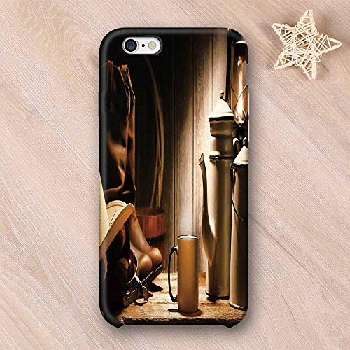 - Western Printing Compatible with iPhone Case,Rodeo Cowboy Authentic Working Gear Genuine Hat Rancher Boots Pot of Coffee Decorative Compatible with iPhone 6 Plus / 6s Plus,iPhone 6/6s