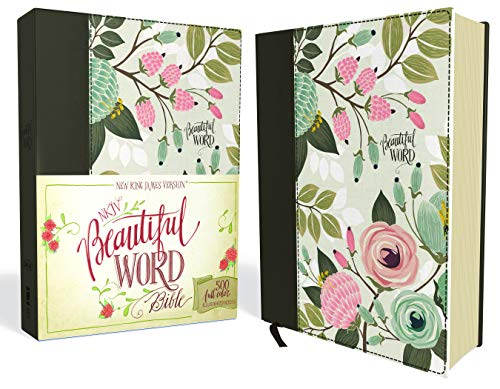 NKJV, Beautiful Word Bible, Cloth over Board, Multi-color Floral, Red Letter Edition: 500 Full-Color Illustrated Verses (Bible Verse About Tears Of A Woman)