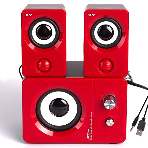 USB Powered Speaker (Red) - 4