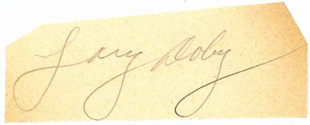 Larry Doby Signed Autographed 1.5x3 Vintage Cut Signature Beckett BAS