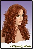 Hollywood_hair4u - Long Extra Curly #130 Copper Red Kanekalon Heat Resistant Synthetic Wig with Packed Root Top *NEW*