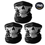 Automotive : GAMPRO Universal Seamless Tube Skull Face Mask, Dust-proof Windproof Motorcycle Bicycle Bike Face Mask for Cycling, Hiking, Camping, Climbing, Fishing, Hunting, Jogging, Motorcycling (3Pcs Black)