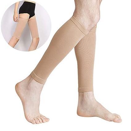 Calcetines de compresión para mujer de Favolook, calcetines para el muslo (sin pie)
