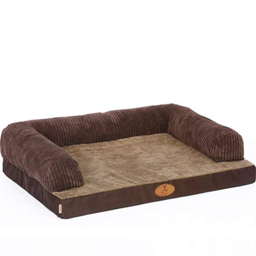 Brown 3 24''X18''X8'' Brown 3 24''X18''X8'' ONCEFIRST Pet Orthopedic Sofa Pet Bed Pillows Dogs Cats Brown 3 24''X18''X8''
