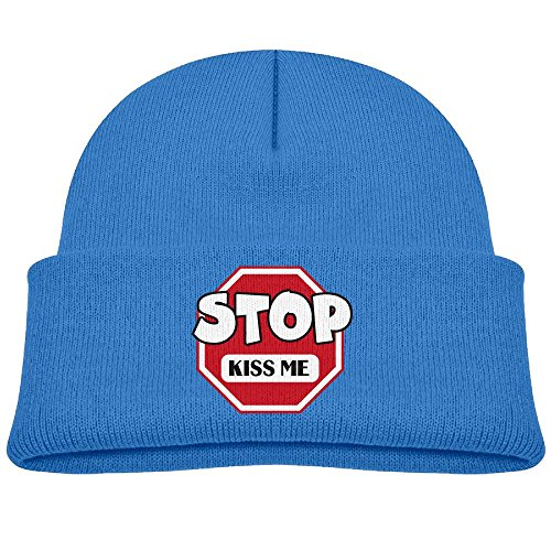 Tongbu Cartoon Stylel Stop Sign Kids Winter Warm Knitted Hat Fashion Wool Caps Beanie Children Girls Boys Knit Cap RoyalBlue (Georgetown Led Sign)