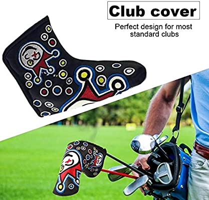 AIMERKUP PU Leather Waterproof Embroidery Style Golf Club Headcover Set Protector Noble Amiable