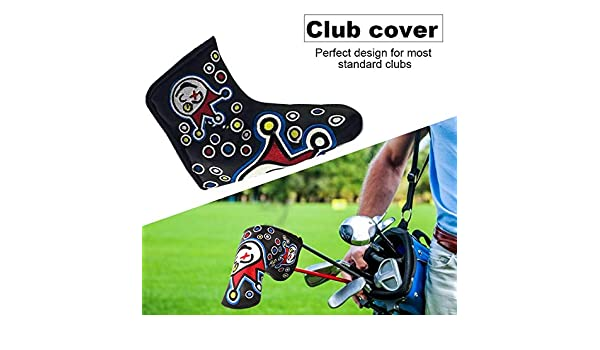 AIMERKUP PU Leather Waterproof Embroidery Style Golf Club Headcover Set Protector Noble Amiable: Amazon.es: Hogar
