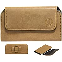 Brain Freezer J A4 L Nillofer Belt Case Leather Carry Pouch Holder Cover Clip for Oppo F3 Plus 6GB RAM (Tan)