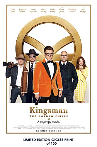 Rare Poster thick taron egerton Kingsman: The Golden Circle movie 2017 channing tatum Reprint #'d/100!