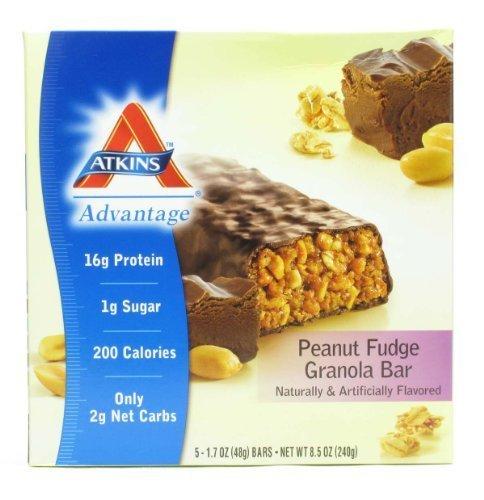 Atkins Advantage Peanut Fudge Granola Bar 8.5 oz (Pack of 6) by Atkins Advantage Peanut Fudge Granola