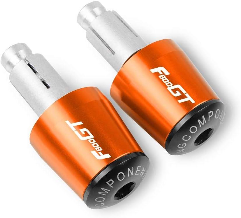Color : Orange Black Accesorios de la Motocicleta 7//8  22MM apretones de Manillar de Barra de la manija Tapa Terminal enchufes for BMW F800GT 2013-2016 CHENWEI