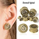 TRIBAL SUNBURST ANTIQUED BRASS-FLESH TUNNELS-Ear Gauges-Ear Plugs-EAR TUNNEL (8mm/0g)