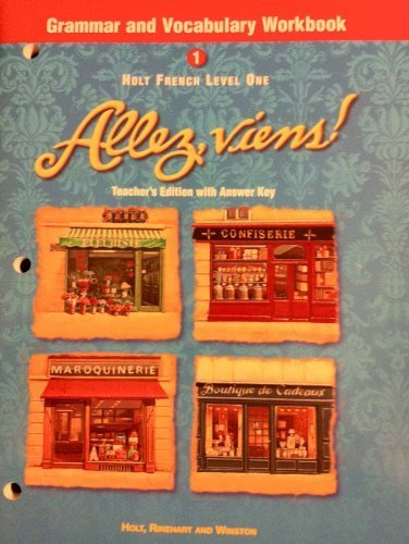 Holt French Level 1 Grammar And Vocabulary Workbook Allez