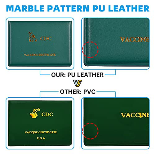 3x4 Card Holder for CDC Vaccination Card, CDC Vaccine Card Holder to Protect Your CDC Immunization Record Card, Vaccine Record Card Holder, CDC Vaccine Card Protector to Secure Your 4x3 CDC Vaccine